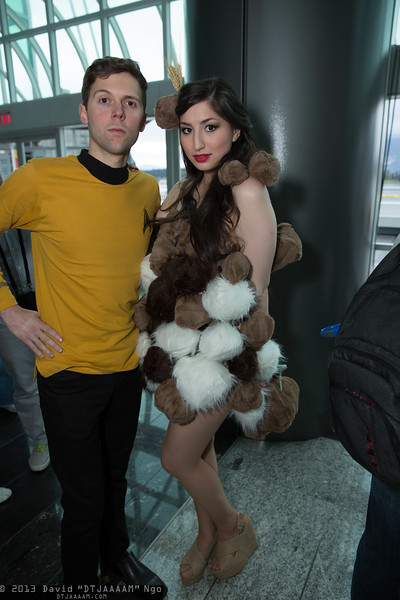 Captain James T. Kirk and Tribbles