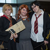 Bill Weasley, Ginny Weasley, and Harry Potter