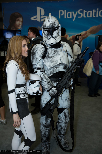 Stormtrooper and Clone Trooper