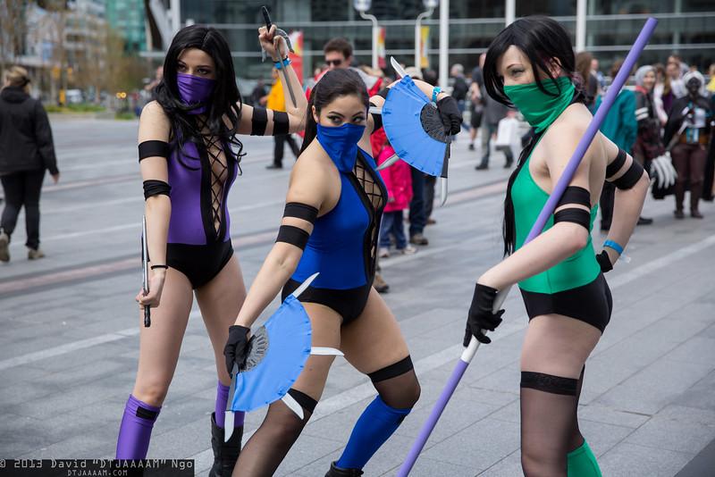 Mileena, Kitana, and Jade