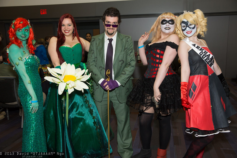 Poison Ivys, Riddler, and Harley Quinns