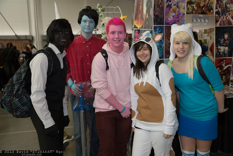 Lord Monochromicorn, Marshall Lee, Prince Gumball, Cake, and Fionna