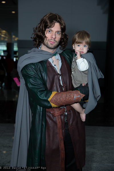 Aragorn and Frodo Baggins