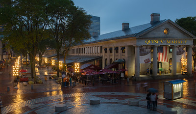 Rainy Night in Quincy Marketplace
