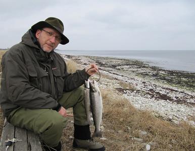 """""""Hatten"""" med fangst fra Djursland, marts 2010."""