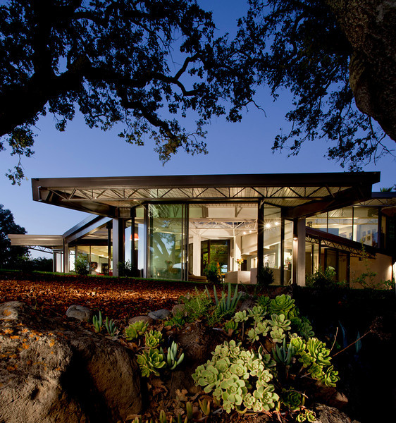 Green house, energy neutral, in Mill Valley by architect Fani Danadjieva Hansen.  Lots of glass, lots of light.