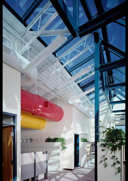 Ducting doesn't need to be boring, but it took quite a bit of fill light to show off her innovative color scheme.