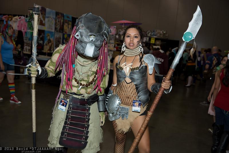 Predator and Machiko Noguchi