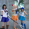 Sailor Saturn, Sailor Venus, and Sailor Mercury