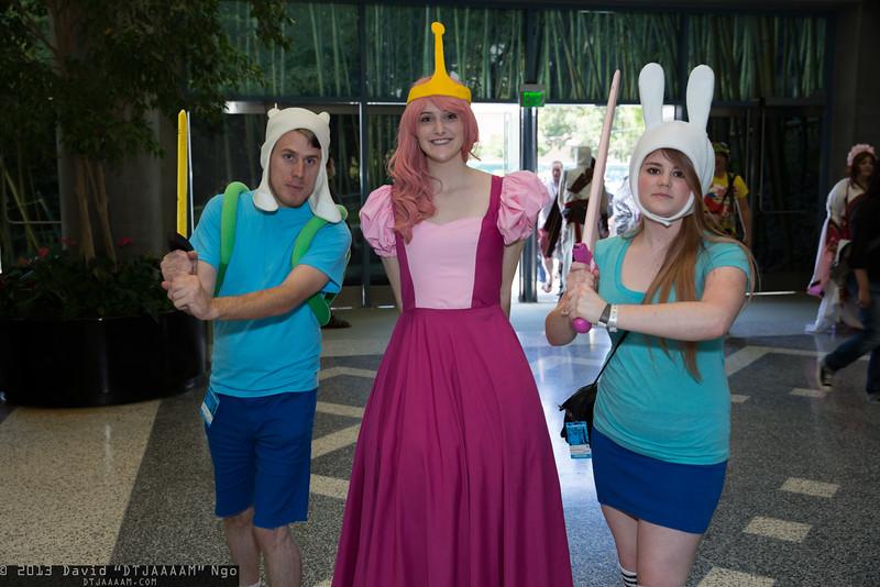 Finn, Princess Bubblegum, and Fionna