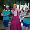 Finn, Princess Bubblegum, and Fionna