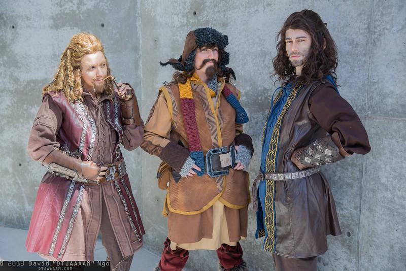 Fili, Bofur, and Kili