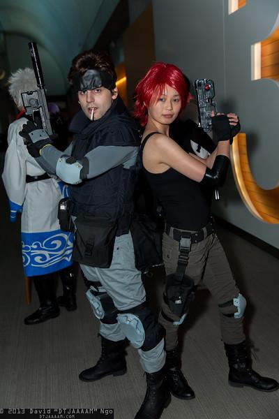 Solid Snake and Meryl Silverburgh