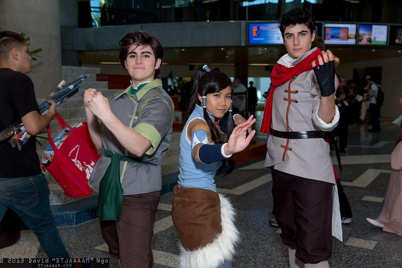 Bolin, Korra, and Mako