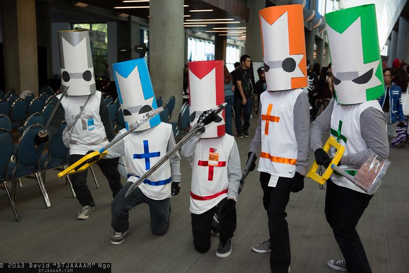 Gray Knight, Blue Knight, Red Knight, Orange Knight, and Green Knight
