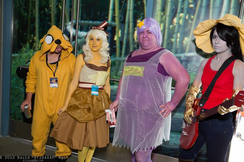 Jake, Breakfast Princess, Lumpy Space Princess, and Marceline