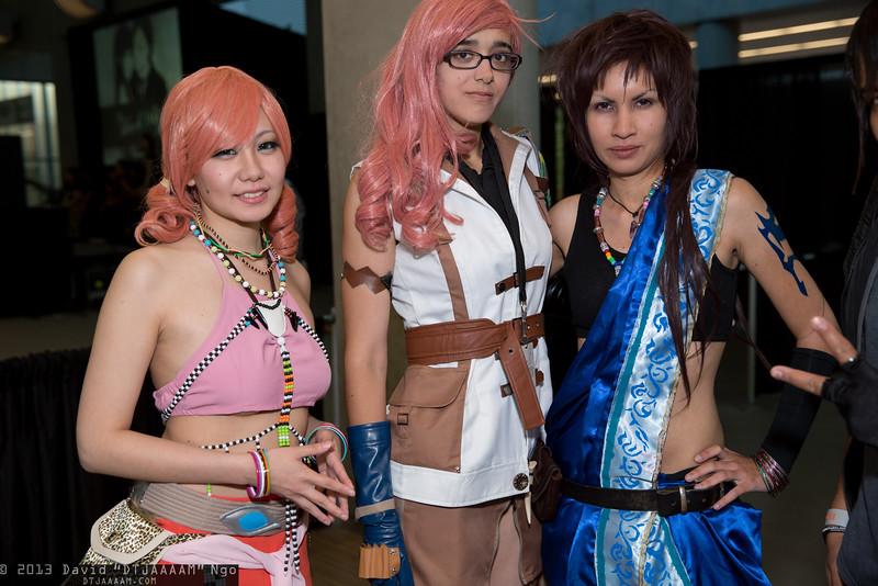 Oerba Dia Vanille, Lightning, and Oerba Yun Fang
