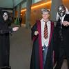Bellatrix Lestrange, Harry Potter, and Lucius Malfoy