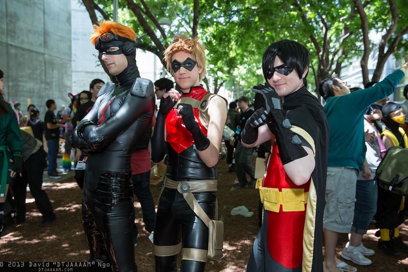 Kid Flash, Arsenal, and Robin