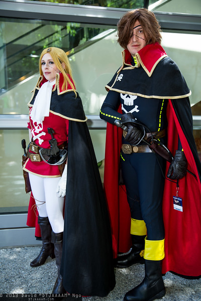 Emeraldas and Captain Harlock