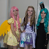 Fluttershy, Rarity, and Queen Chrysalis