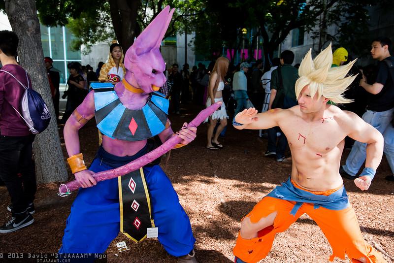 Beerus and Goku