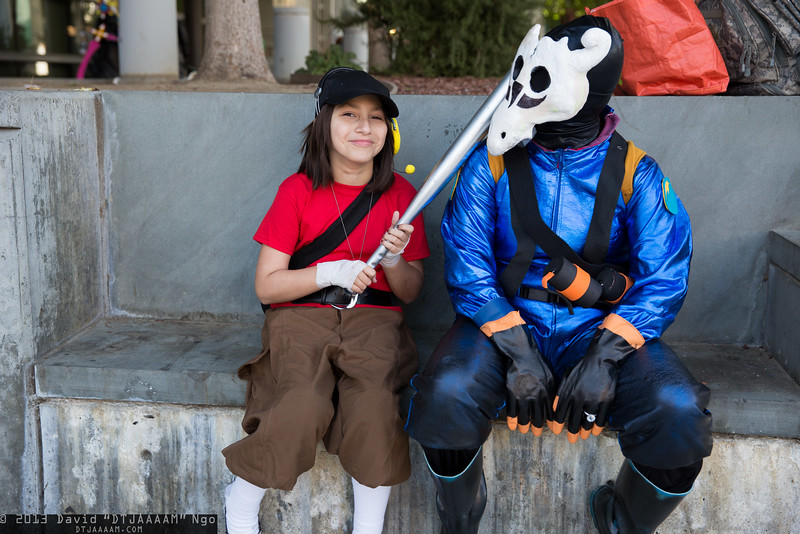 Scout and Pyro
