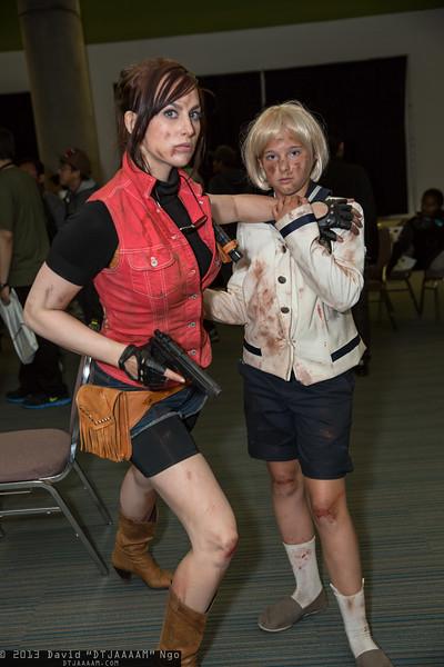 Claire Redfield and Sherry Birkin