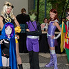 Raven, Terra, Beast Boy, Starfire, and Robin