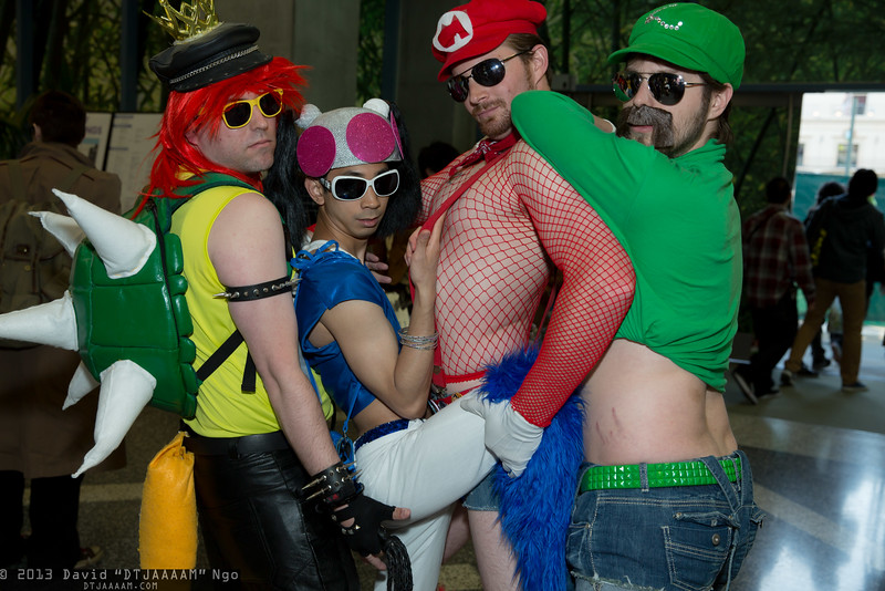 Bowser, Toad, Mario, and Luigi