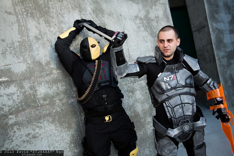 Deathstroke the Terminator and Commander Shepard