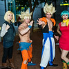 Android 18, Goku, Gogeta, and Bulma