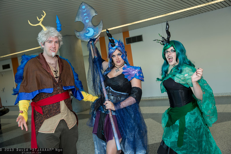 Discord, Nightmare Moon, and Queen Chrysalis