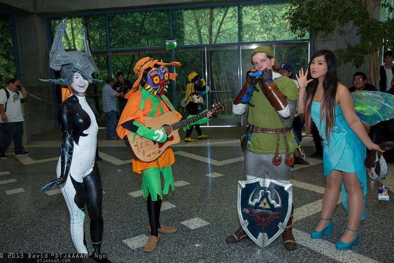 Midna, Skull Kid, Link, and Navi