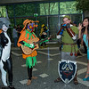 Midna, Skull Kid, Link, and Navi