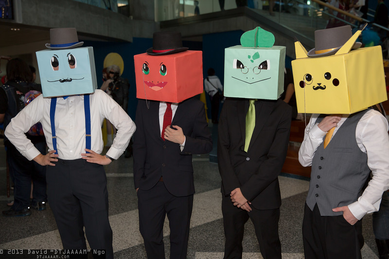 Squirtle, Charmander, Bulbasaur, and Pikachu