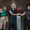 Yuffie Kisaragi, Cloud Strife, and Zack Fair