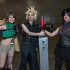 Yuffie Kisaragi, Cloud Strife, and Zack Fair
