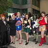 Black Widow, Agent Phil Coulson, Captain America, Loki, Hulk, Iron Man, and Nick Fury