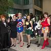Black Widow, Agent Phil Coulson, Captain America, Loki, Hulk, Iron Man, and Nick Fury