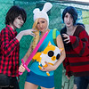 Marshall Lee, Fionna, Marceline, and Cake