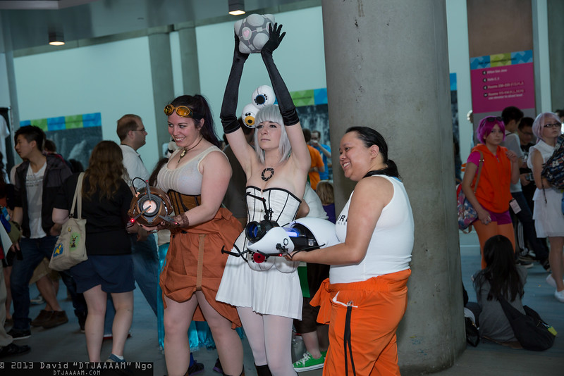 Chells and GLaDOS