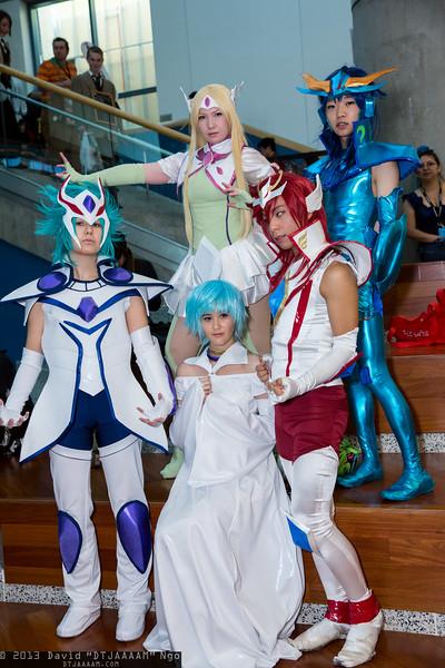 Orion Eden, Aquila Yuna, Aria, Pegasus Koga, and Dragon Ryuho