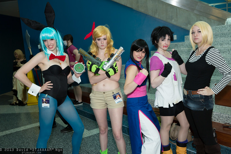 Bulma, Launch, Chi-Chi, Videl, and Android 18