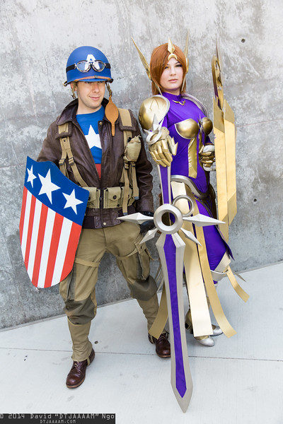 Captain America and Leona