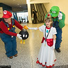 Mario, Princess Peach, Luigi, and Bob-omb