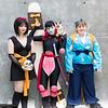 Yura, Sango, Shippo, and Kirara