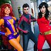 Starfire, Nightwing, and Wonder Girl