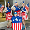 USO Girls and Captain America