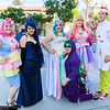 Mrs. Cake, Princess Luna, Princess Celestia, Spike, Princess Cadance, and Mr. Cake